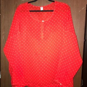 Brand new w/o tags red blouse